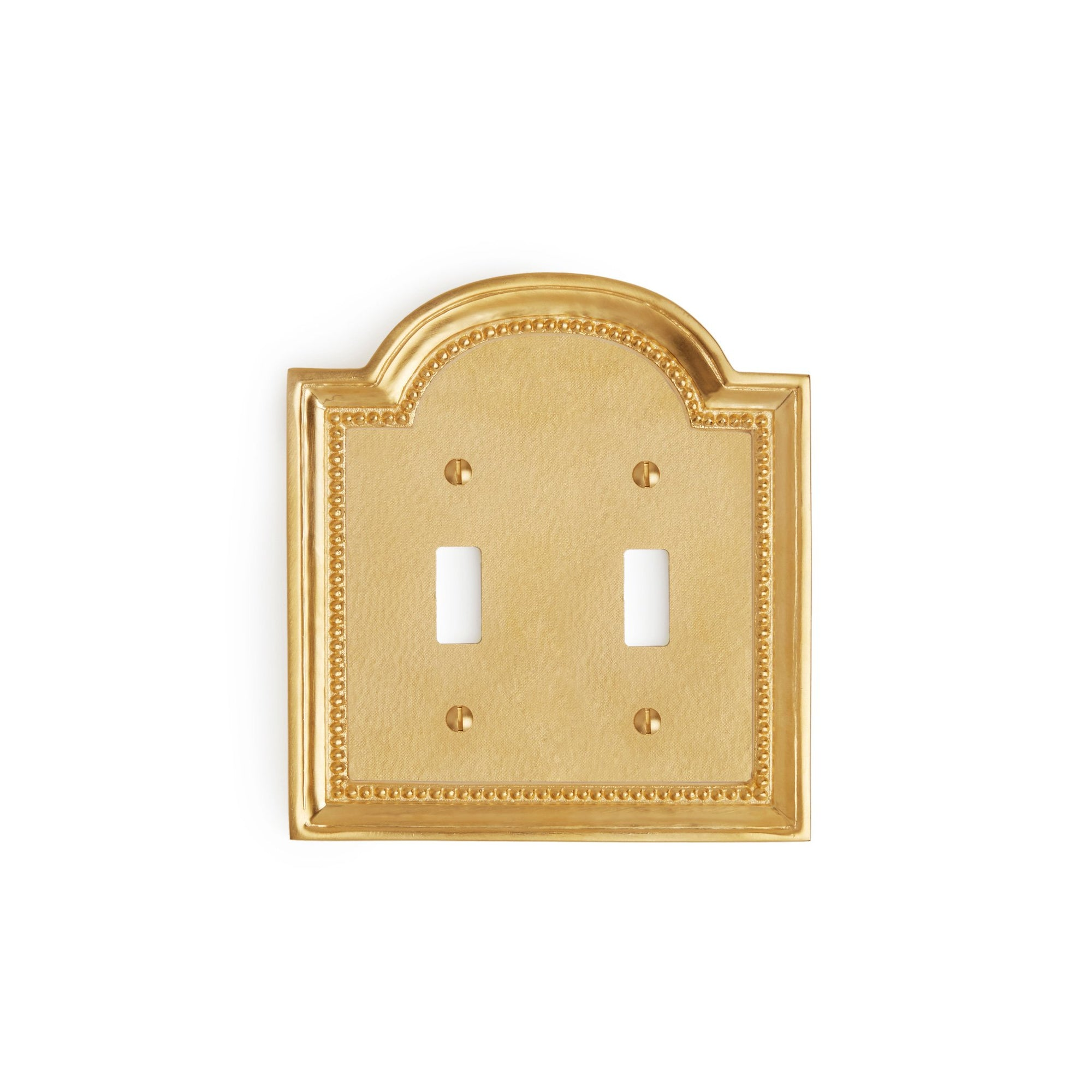 0470D-SWT-GP Sherle Wagner International Classical Double Switch Plate in Gold Plate metal finish