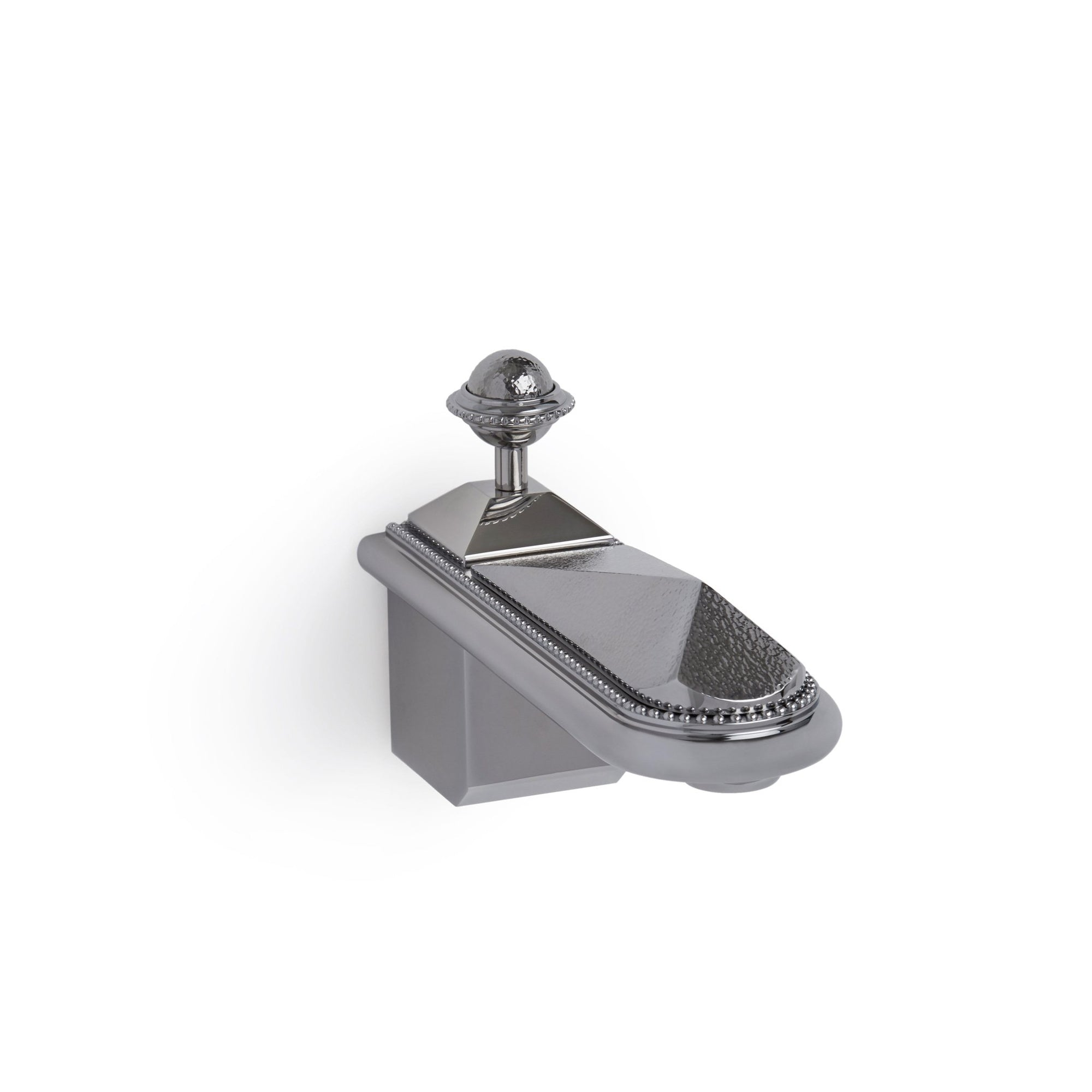 0803TUB-HMRD-CP Sherle Wagner International Hammered Pyramid Wall Mount Tub Spout in Polished Chrome metal finish
