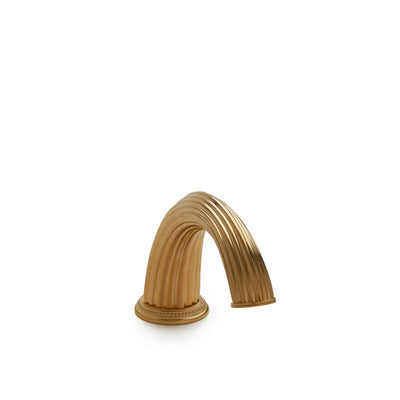 0813DKT-GP Sherle Wagner International Classical Smooth Deck Mount Tub Spout in Gold Plate metal finish
