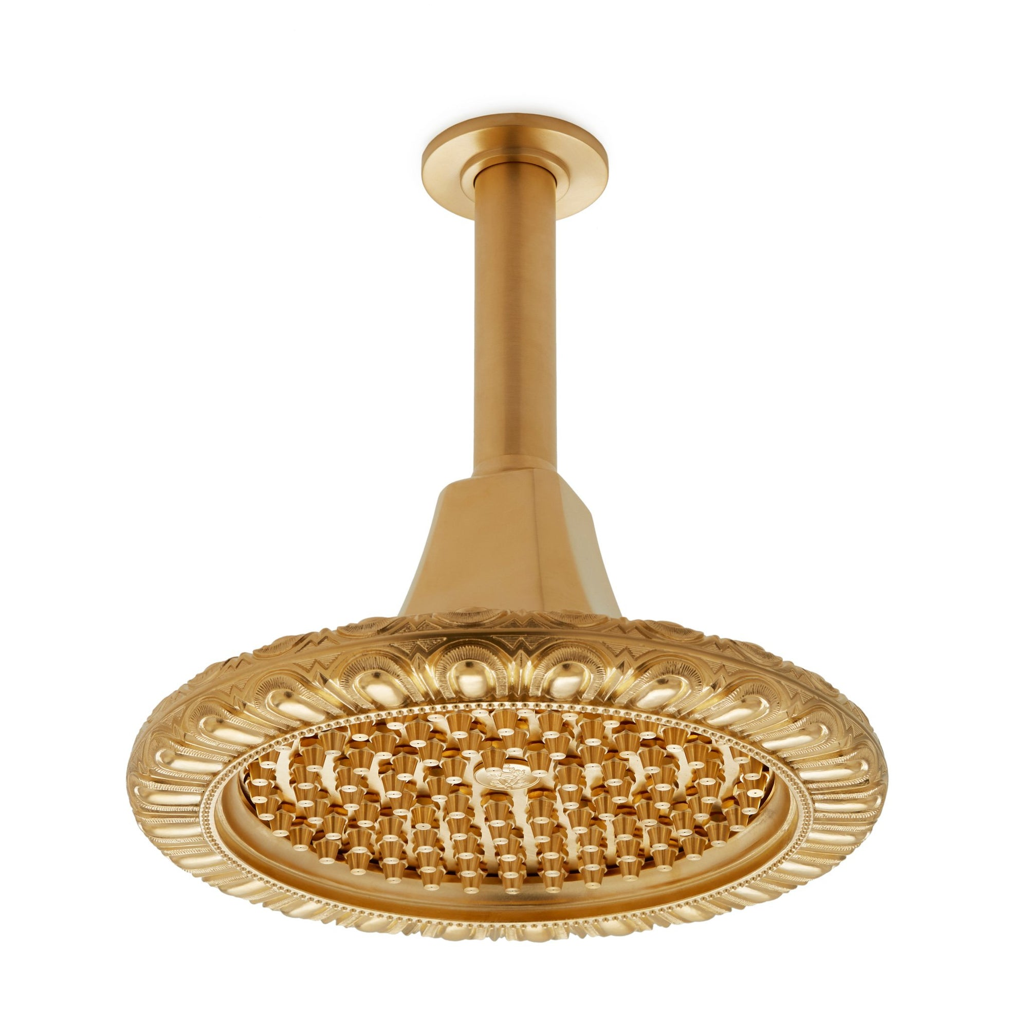 0835CS-N-GP Sherle Wagner International Egg & Dart Rain Dome with Nozzles in Gold Plate metal finish
