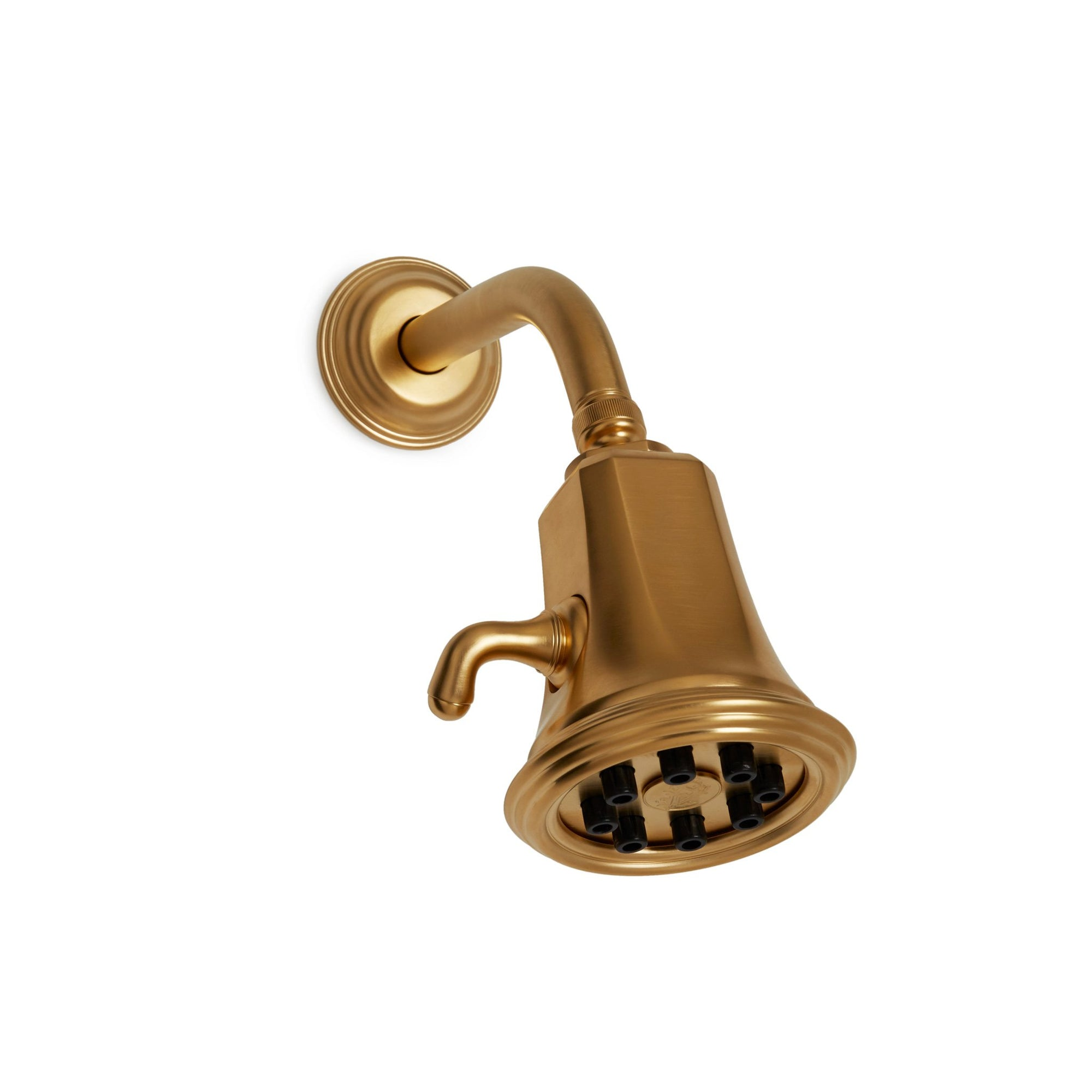 0841SHHD-GP Sherle Wagner International Grey Shower Head with Grey Flange in Gold Plate metal finish