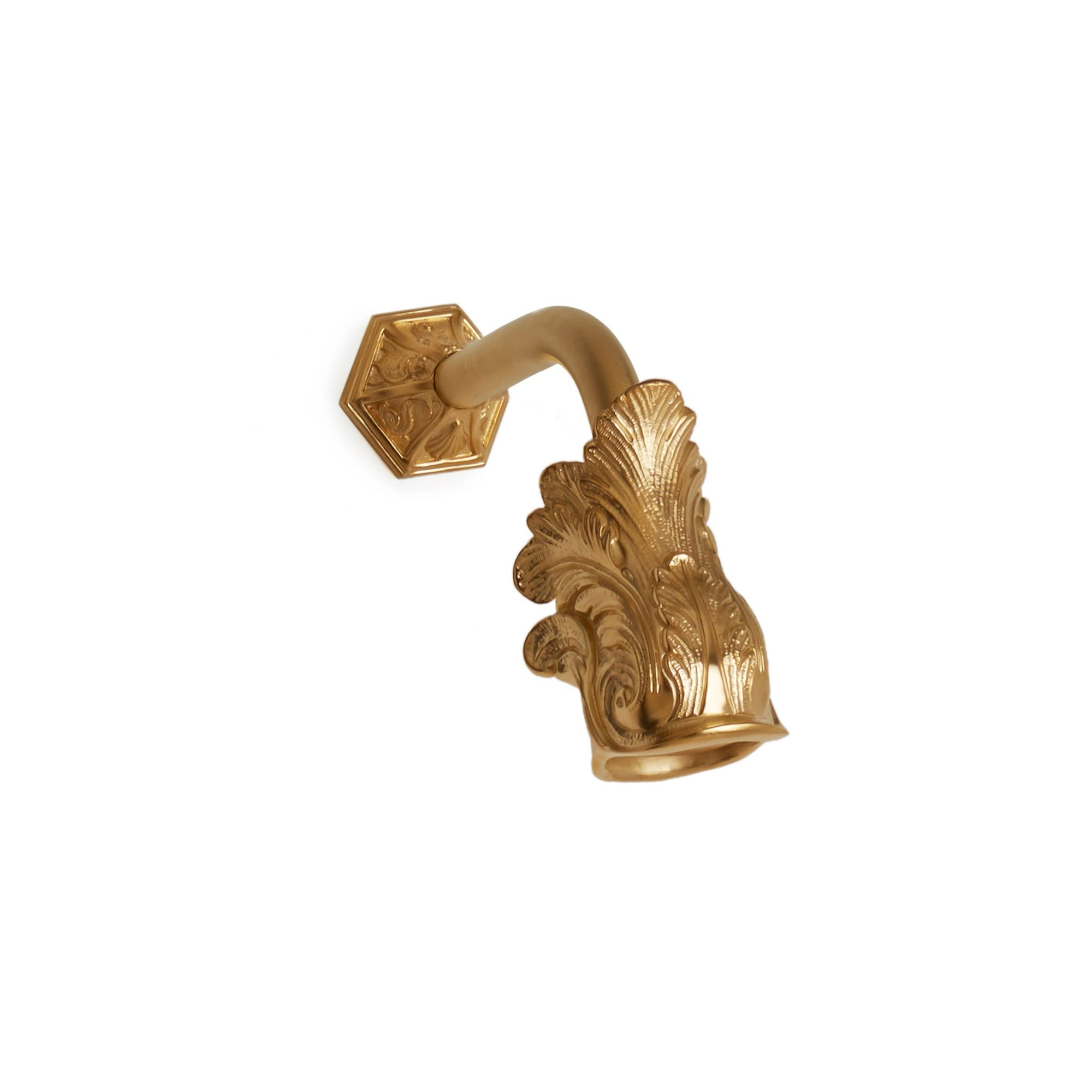 0847SHHD-GP Sherle Wagner International Dolphin Shower Head with Dolphin Flange in Gold Plate metal finish