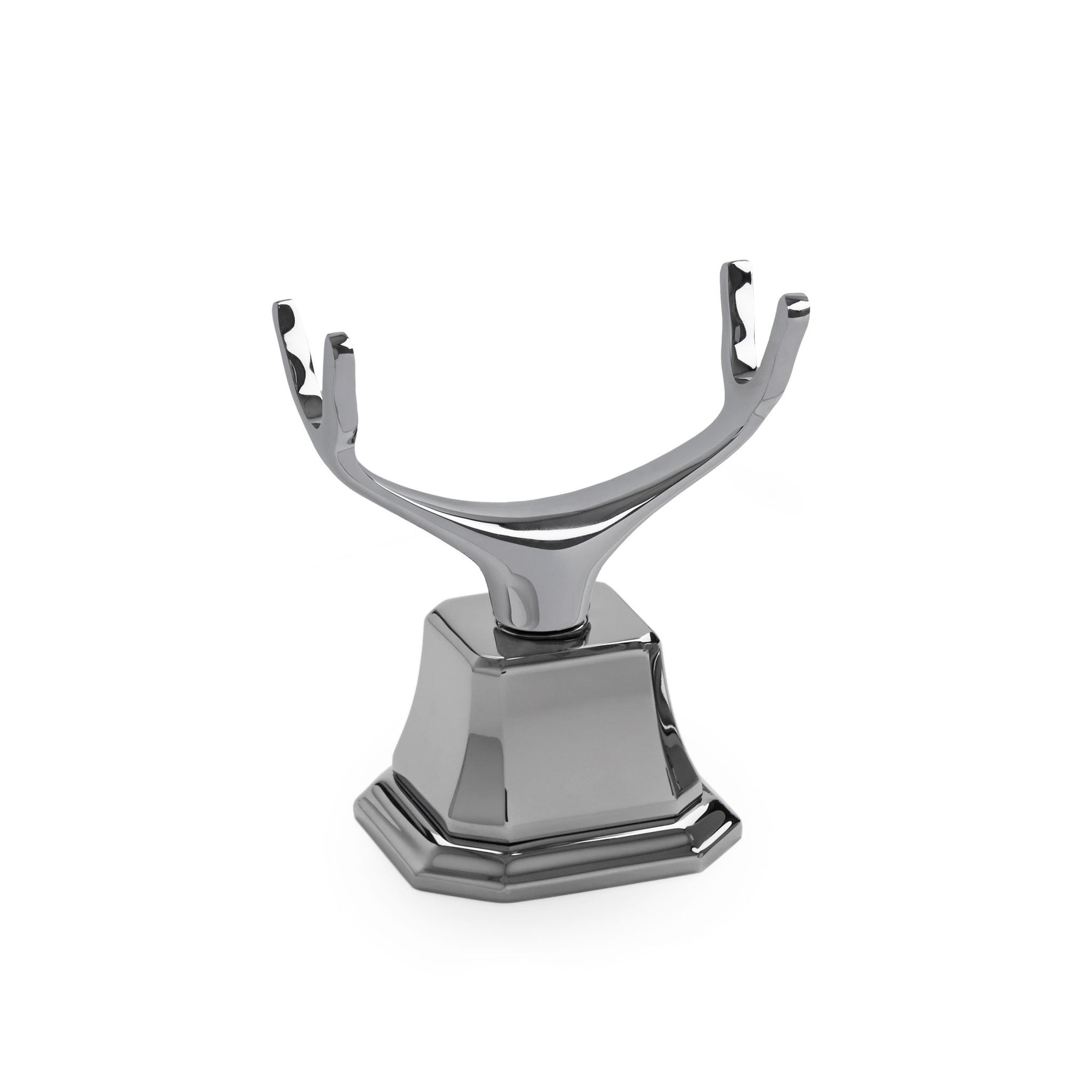 0849DKMT-HR-CP Sherle Wagner International Deck Mount Cradle with Harrison Escutcheon in Polished Chrome metal finish