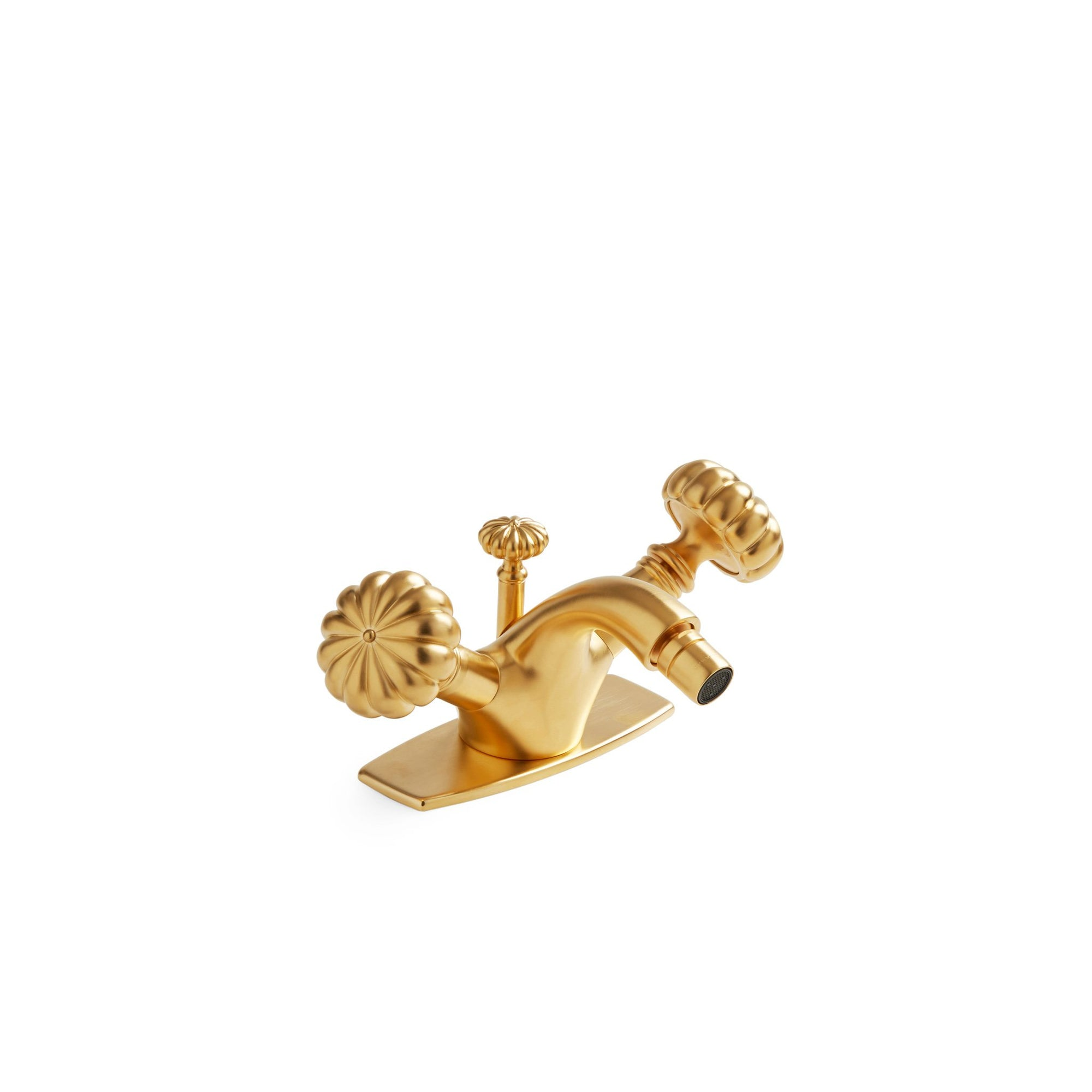0910BDT-1H-GP Sherle Wagner International Melon Knob Bidet Set in Gold Plate metal finish