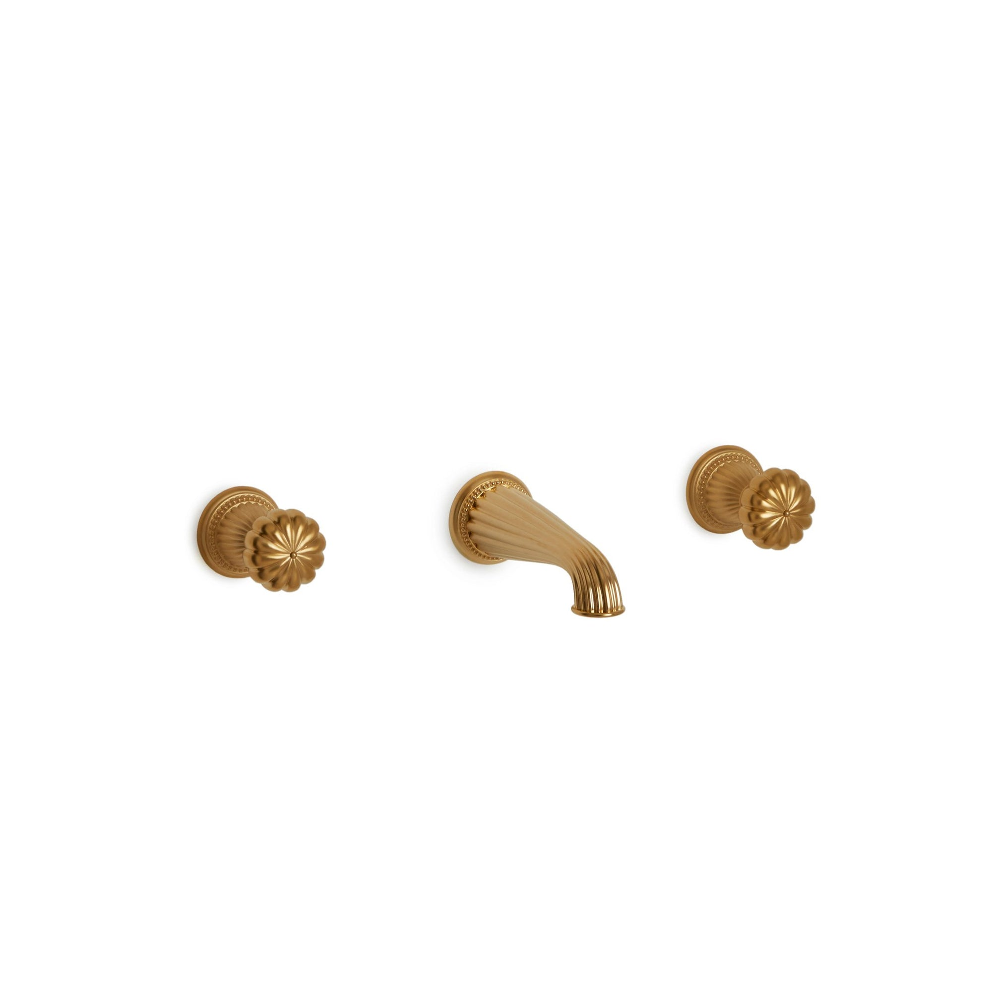 0910WBS-GP Sherle Wagner International Melon Knob Wall Mount Faucet Set in Gold Plate metal finish