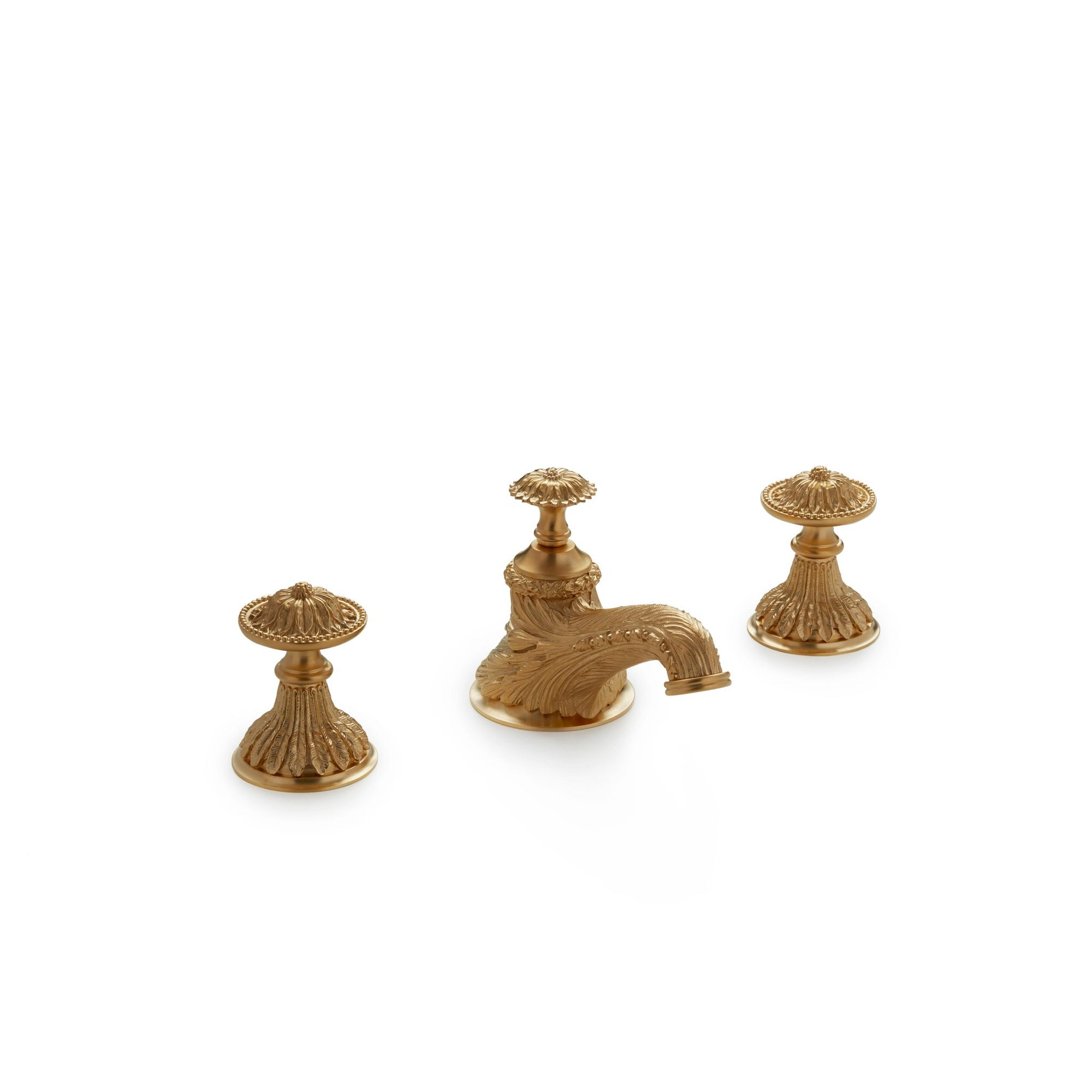 0918BSN-GP Sherle Wagner International Acanthus Knob Faucet Set in Gold Plate metal finish