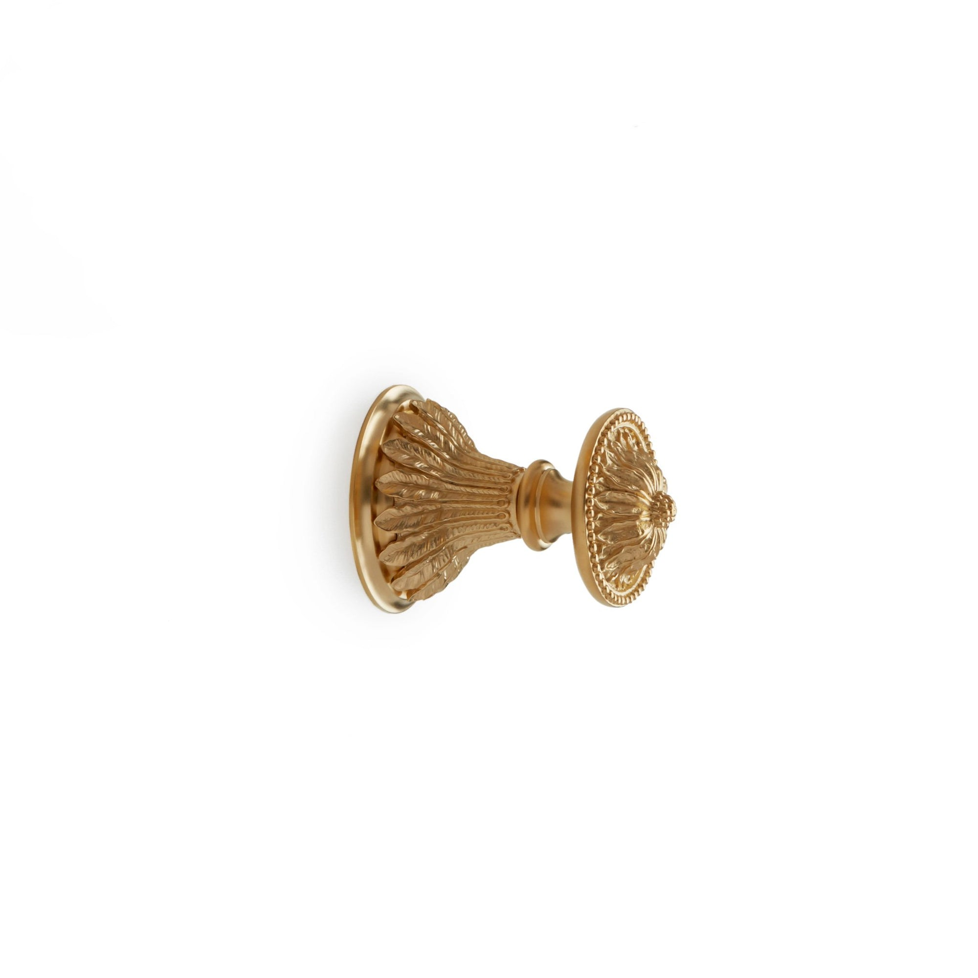 0918KB-ESC-GP Sherle Wagner International Acanthus Knob Volume Control and Diverter Trim in Gold Plate metal finish