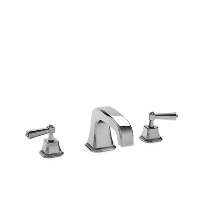0980DKT824S-CP Sherle Wagner International Harrison Lever Deck Mount Tub Set Small in Polished Chrome metal finish