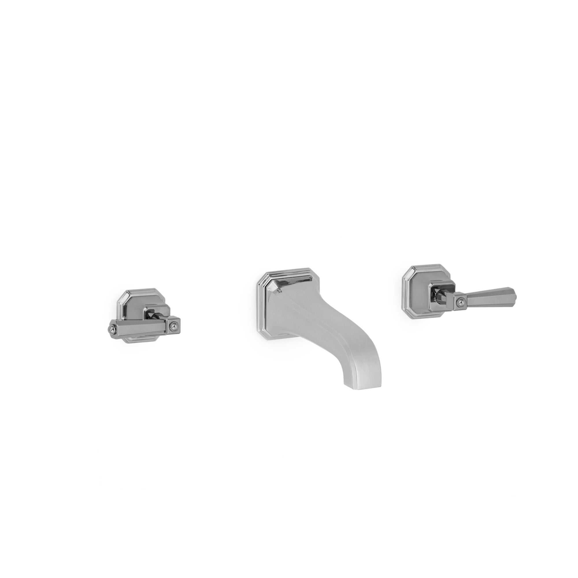 0980WBS824-S-CP Sherle Wagner International Harrison Lever Wall Mount Faucet Set Small in Polished Chrome metal finish