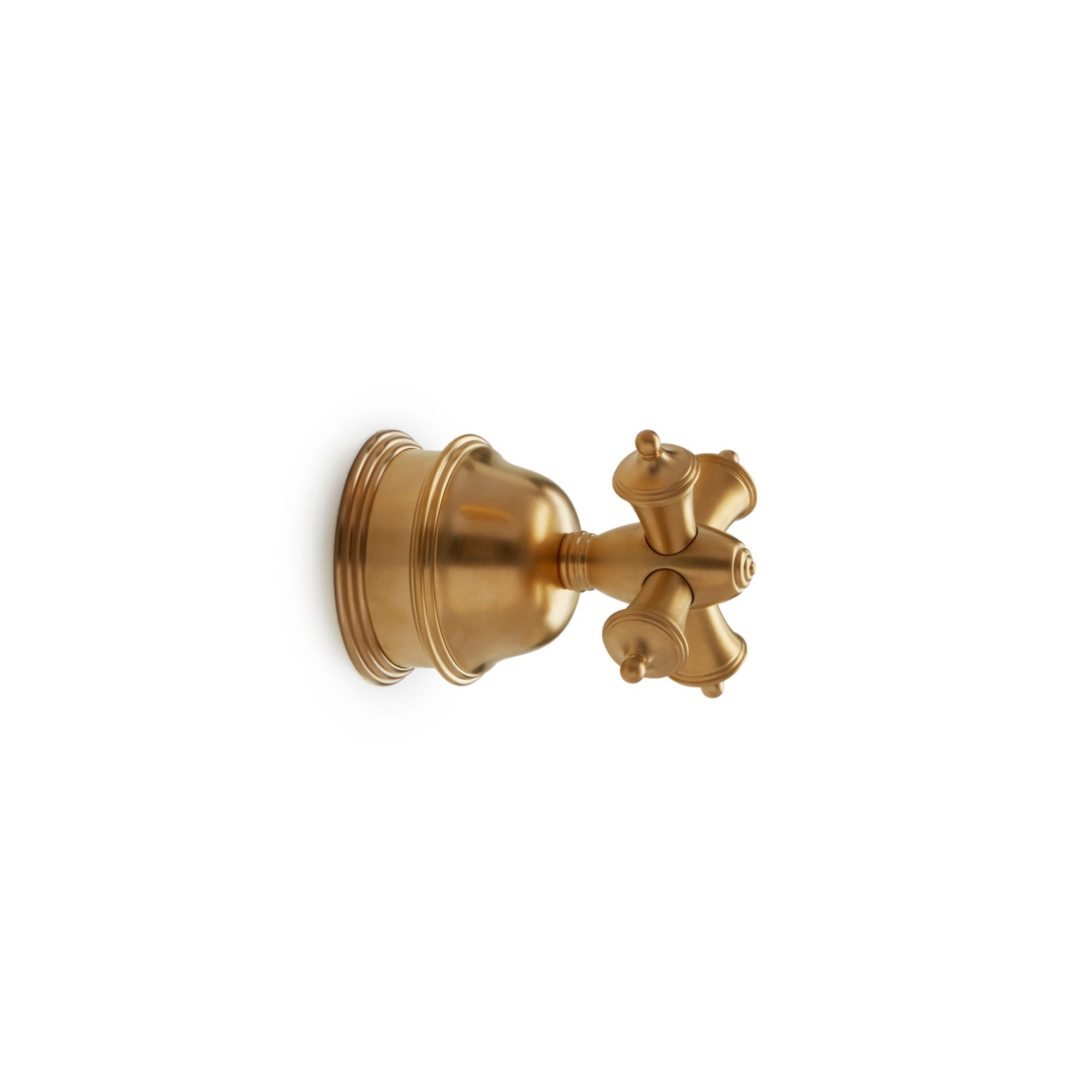 0993KB-ESC-GP Sherle Wagner International Grey Series II Cross Handle Volume Control and Diverter Trim in Gold Plate metal finish