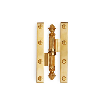 1004-34-GP Sherle Wagner International Acorn Paumelle Hinge in Gold Plate metal finish
