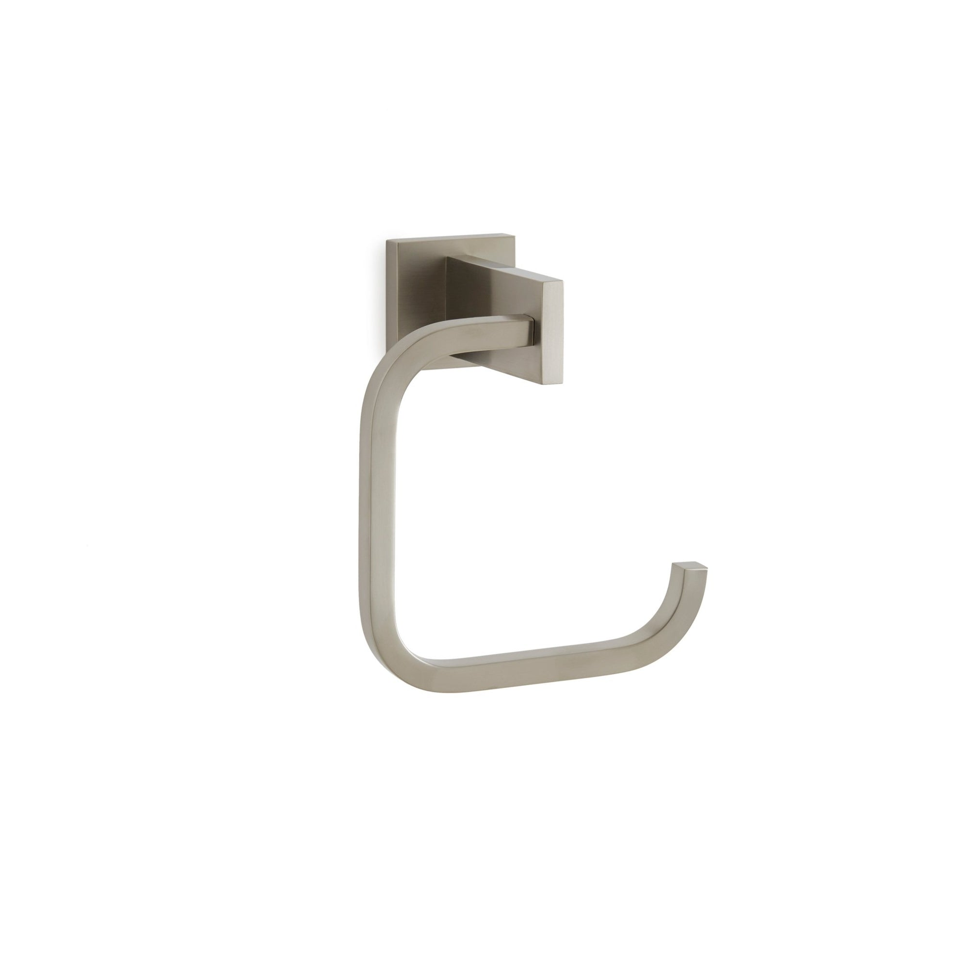 101TR-BN Sherle Wagner International Modern Towel Ring in Brushed Nickel metal finish