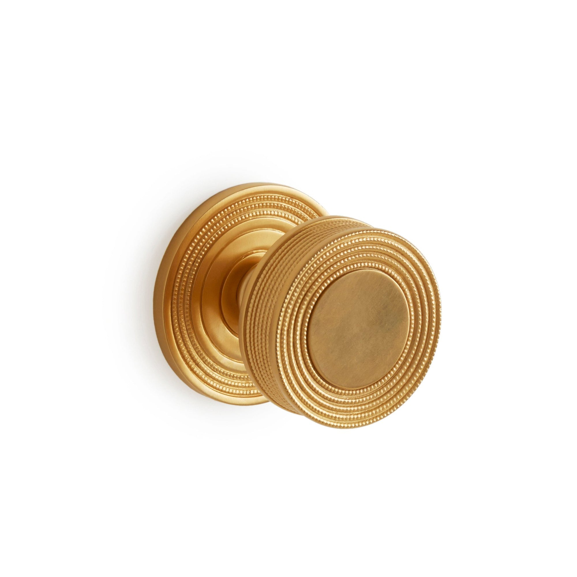 1033DOR-3-GP Sherle Wagner International Concentric Circles Large Door Knob in Gold Plate metal finish