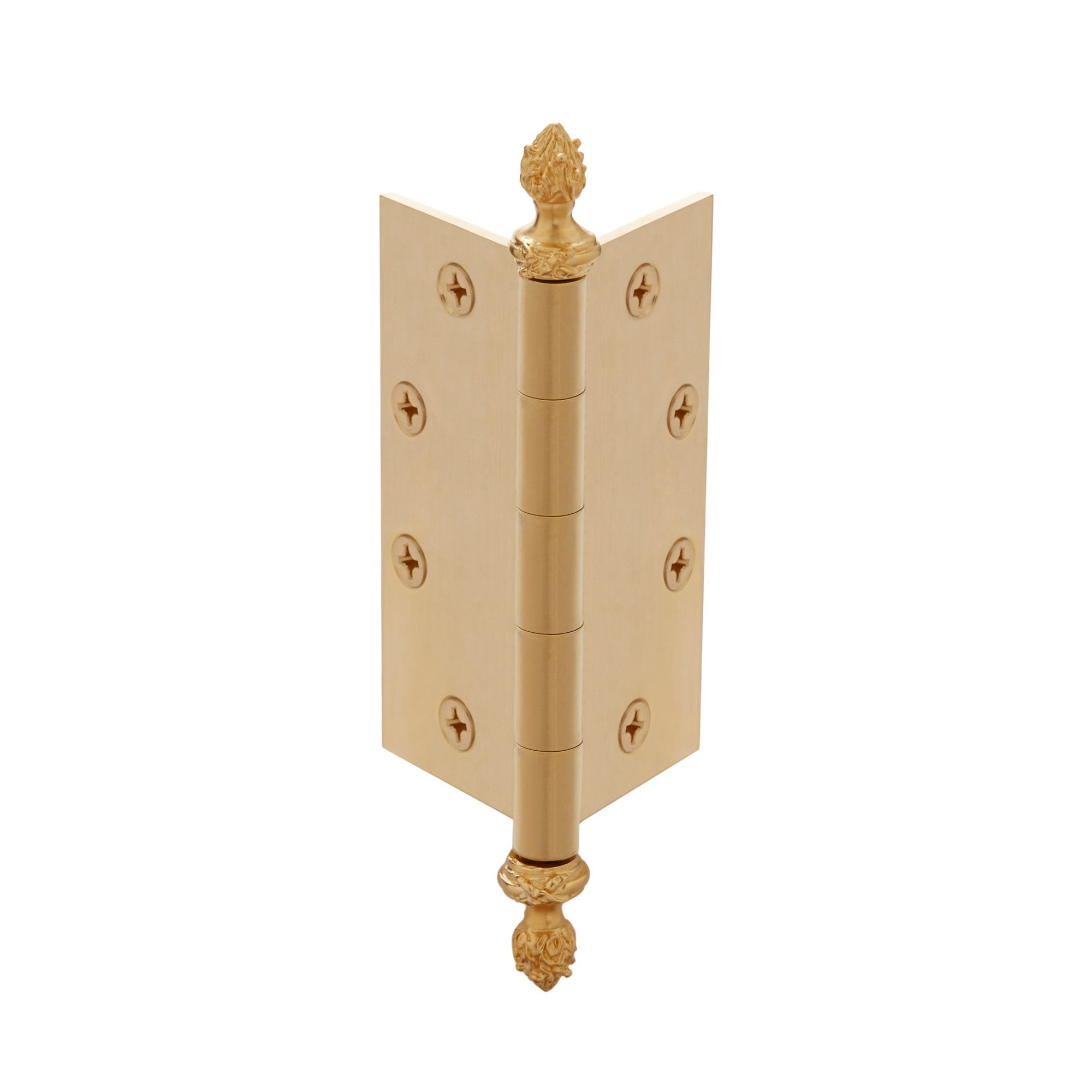 1037-HFIN-GP Sherle Wagner International Ribbon & Reed Finial in Gold Plate metal finish