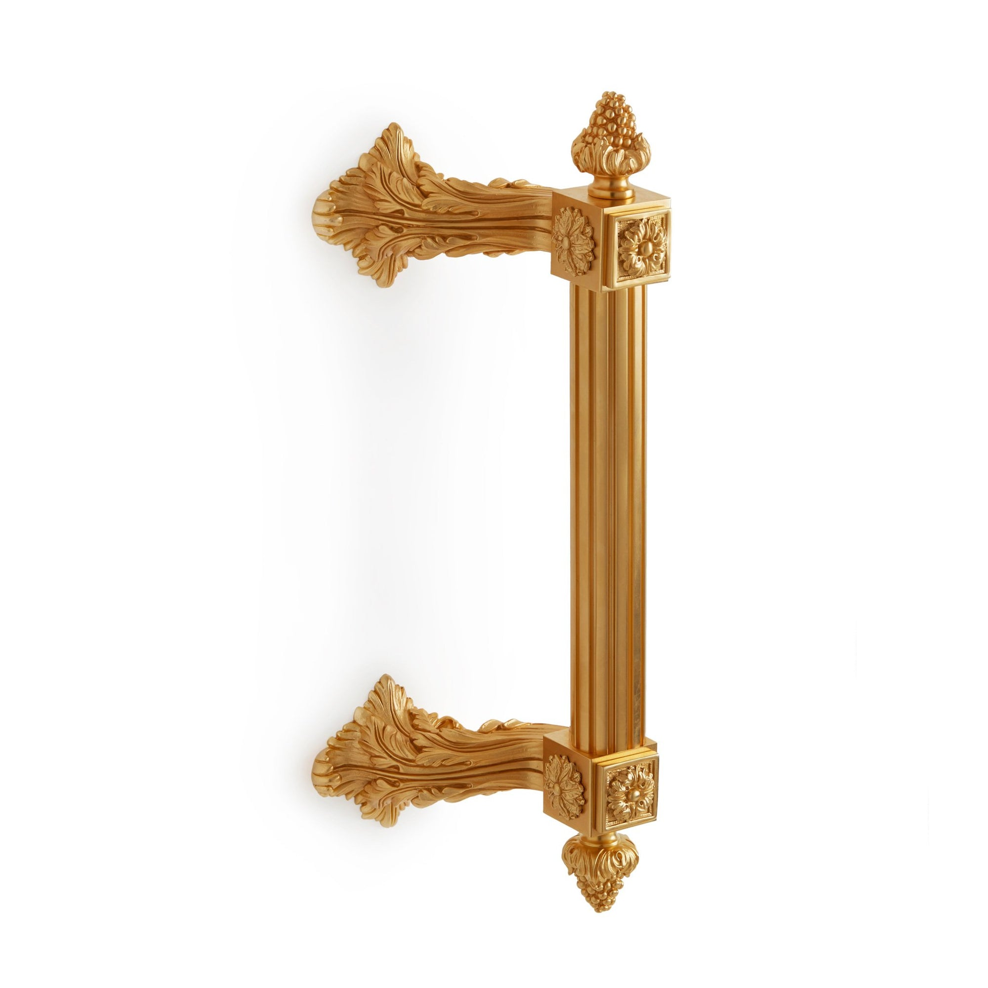 1051B-GP Sherle Wagner International Fluted Breakers Bar Pull in Gold Plate metal finish