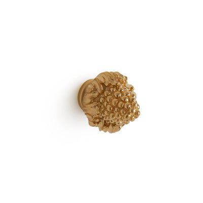 1068-11/4-GP Sherle Wagner International Beehive Cabinet & Drawer Knob in Gold Plate metal finish