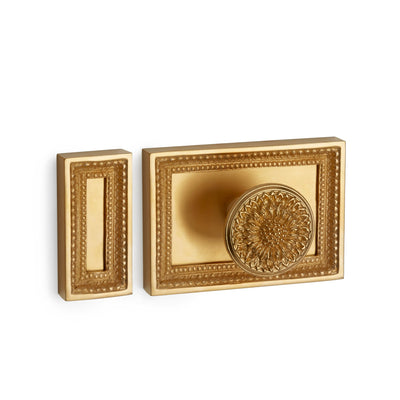 1071-GP Sherle Wagner International Beaded Box Lock Cover in Gold Plate metal finish
