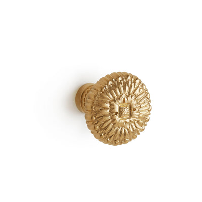 1078-13/4-GP Sherle Wagner International Zinnia Cabinet & Drawer Knob in Gold Plate metal finish