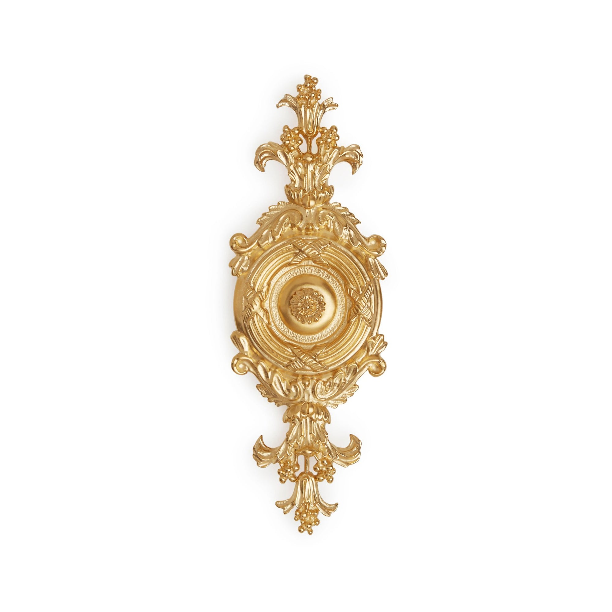 1088-GP Sherle Wagner International Ribbon & Reed Door Bell Cover in Gold Plate metal finish