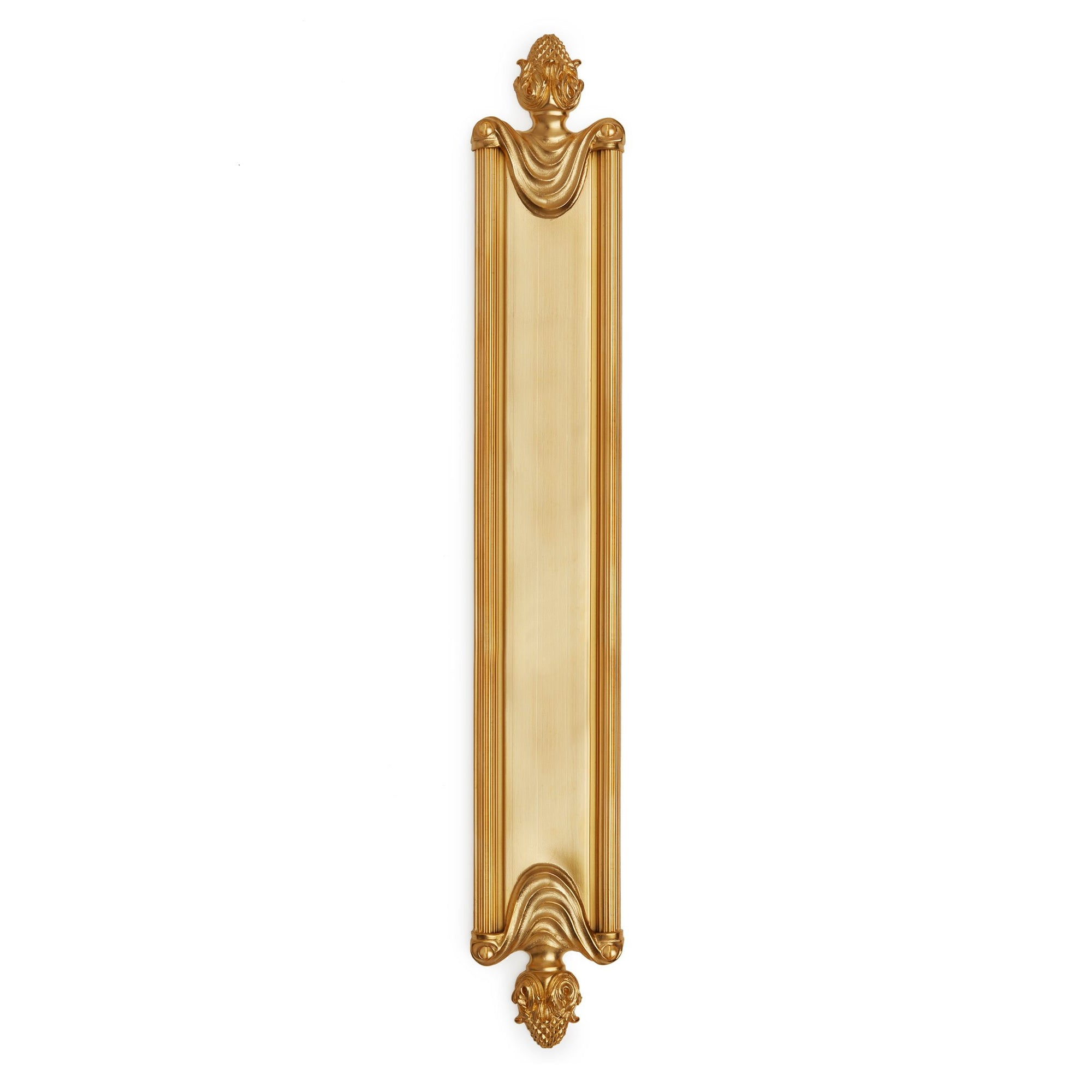 1110-21-GP Sherle Wagner International Grecian Push Plate in Gold Plate metal finish