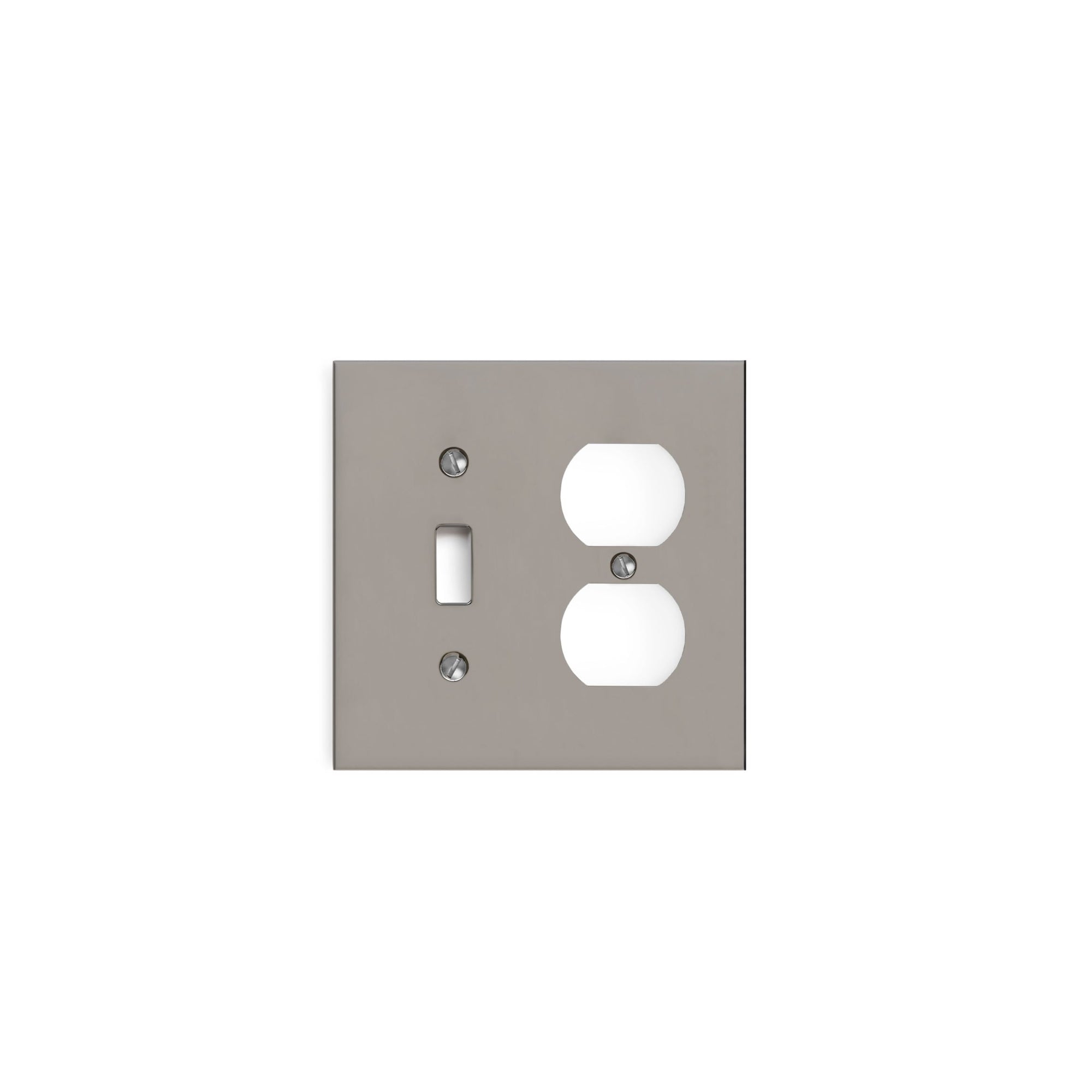 2000D-SWT-PLG-CP Sherle Wagner International Modern Double Single Switch & Duplex Plug Plate in Polished Chrome metal finish