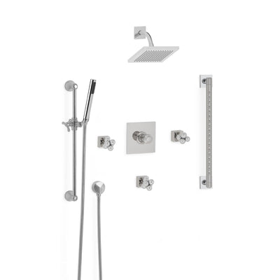 Sherle Wagner International Molecule Modern High Flow Thermostatic Shower System in Polished Chrome metal finish