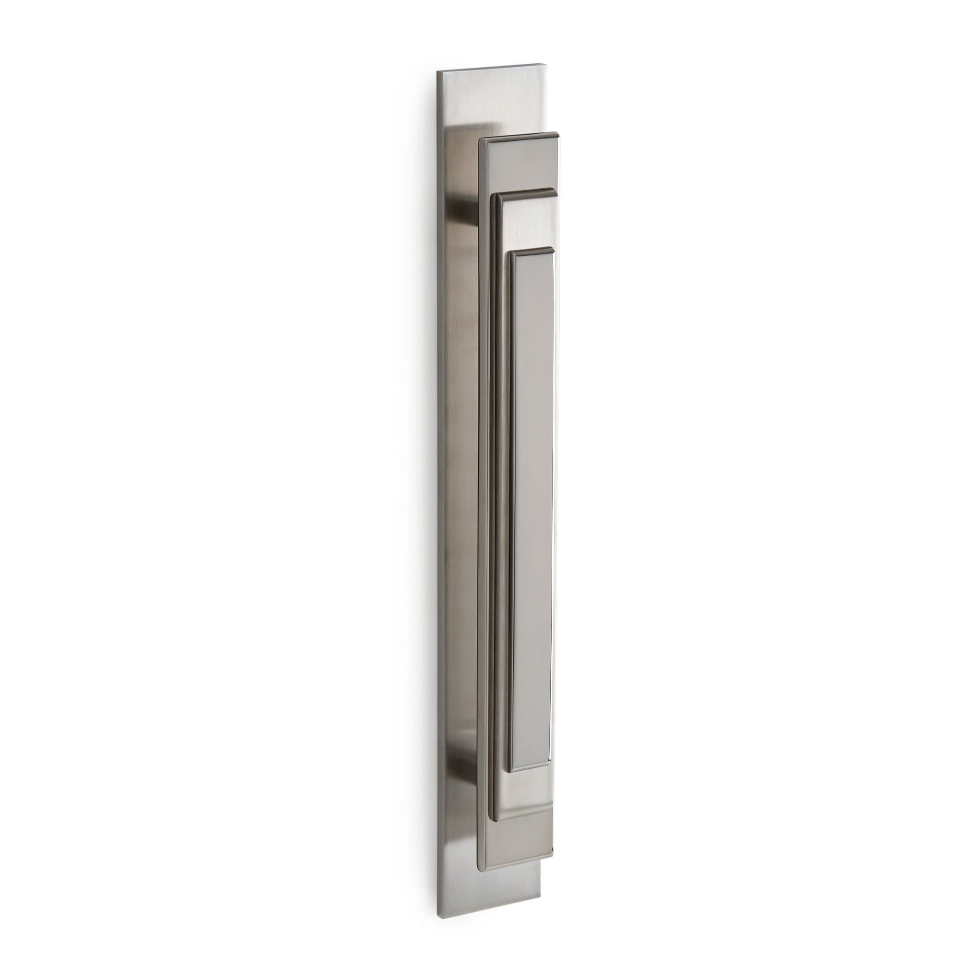 2010-BRPL-12-BN Sherle Wagner International Nouveau Bar Pull in Brushed Nickel metal finish