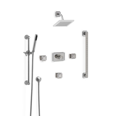Sherle Wagner International Nouveau High Flow Thermostatic Shower System in Polished Chrome metal finish