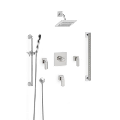 Sherle Wagner International Apollo High Flow Thermostatic Shower System in Polished Chrome metal finish