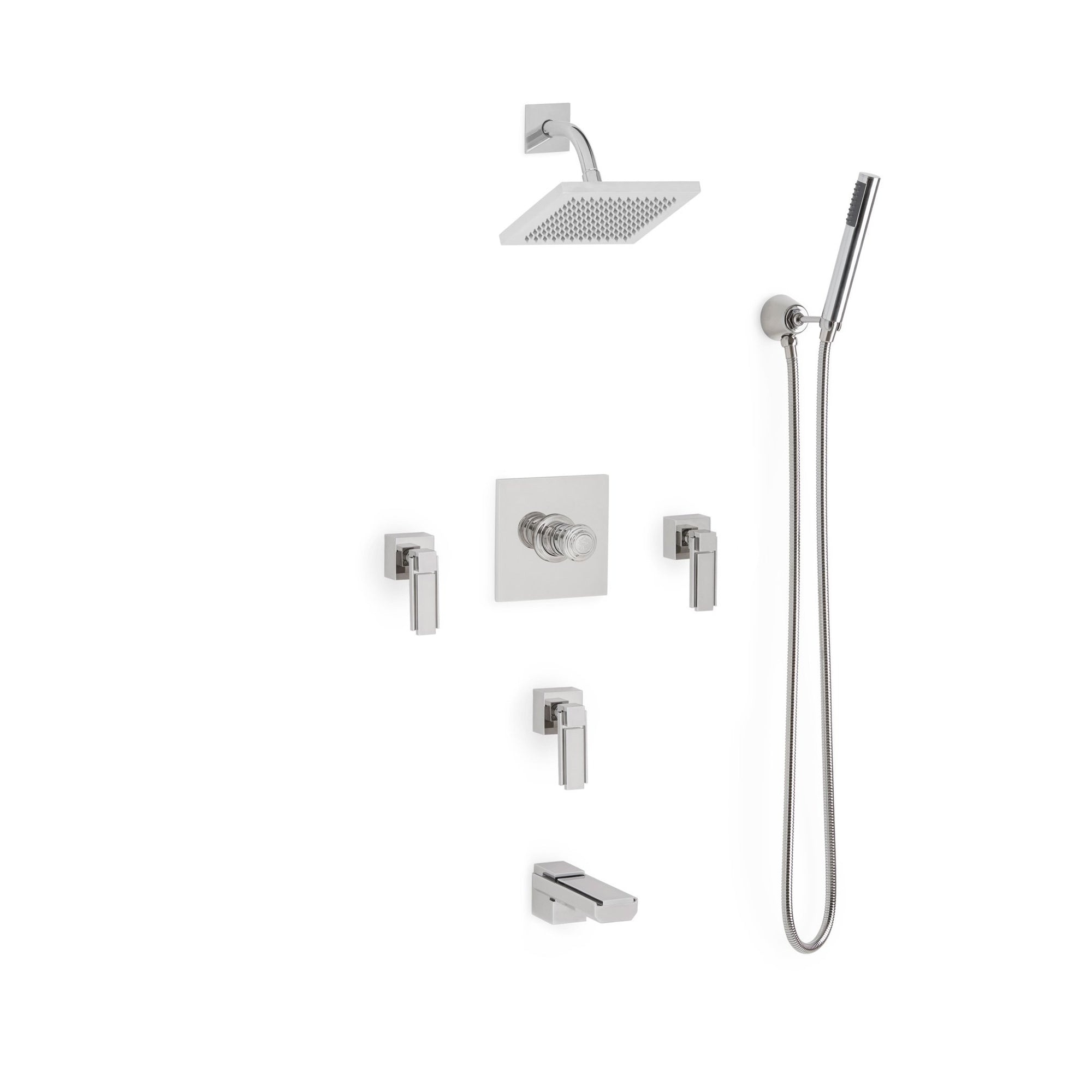 Sherle Wagner International Apollo High Flow Thermostatic Shower and Tub System in Polished Chrome metal finish