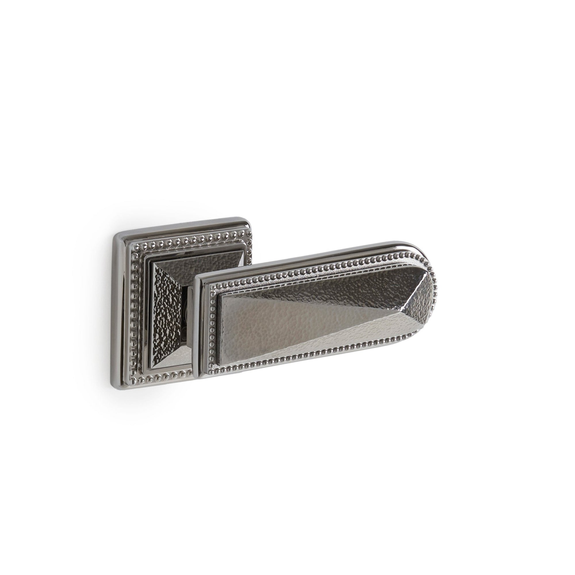 2050DOR-RH-HMRD-CP Sherle Wagner International Hammered Pyramid Door Lever in Polished Chrome metal finish