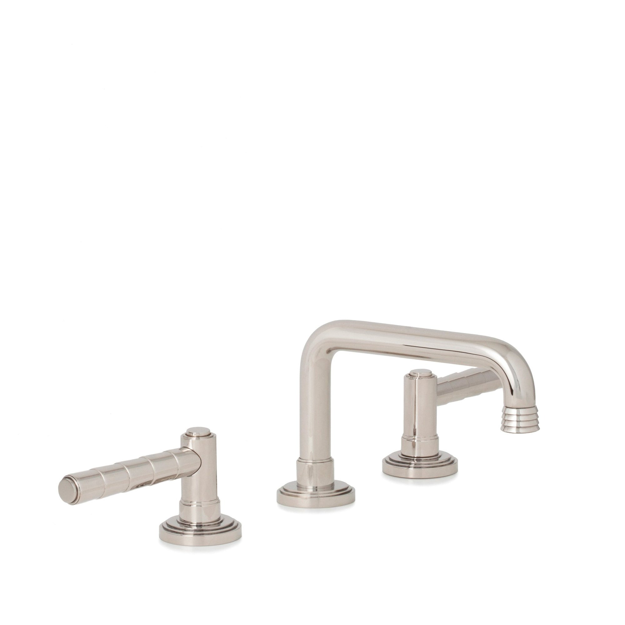 2060BSN806-HP Sherle Wagner International Keystone Lever Faucet Set in High Polished Platinum metal finish