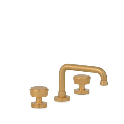 2075BSN806-BG Sherle Wagner International Dorian Knob Faucet Set in Burnished Gold metal finish