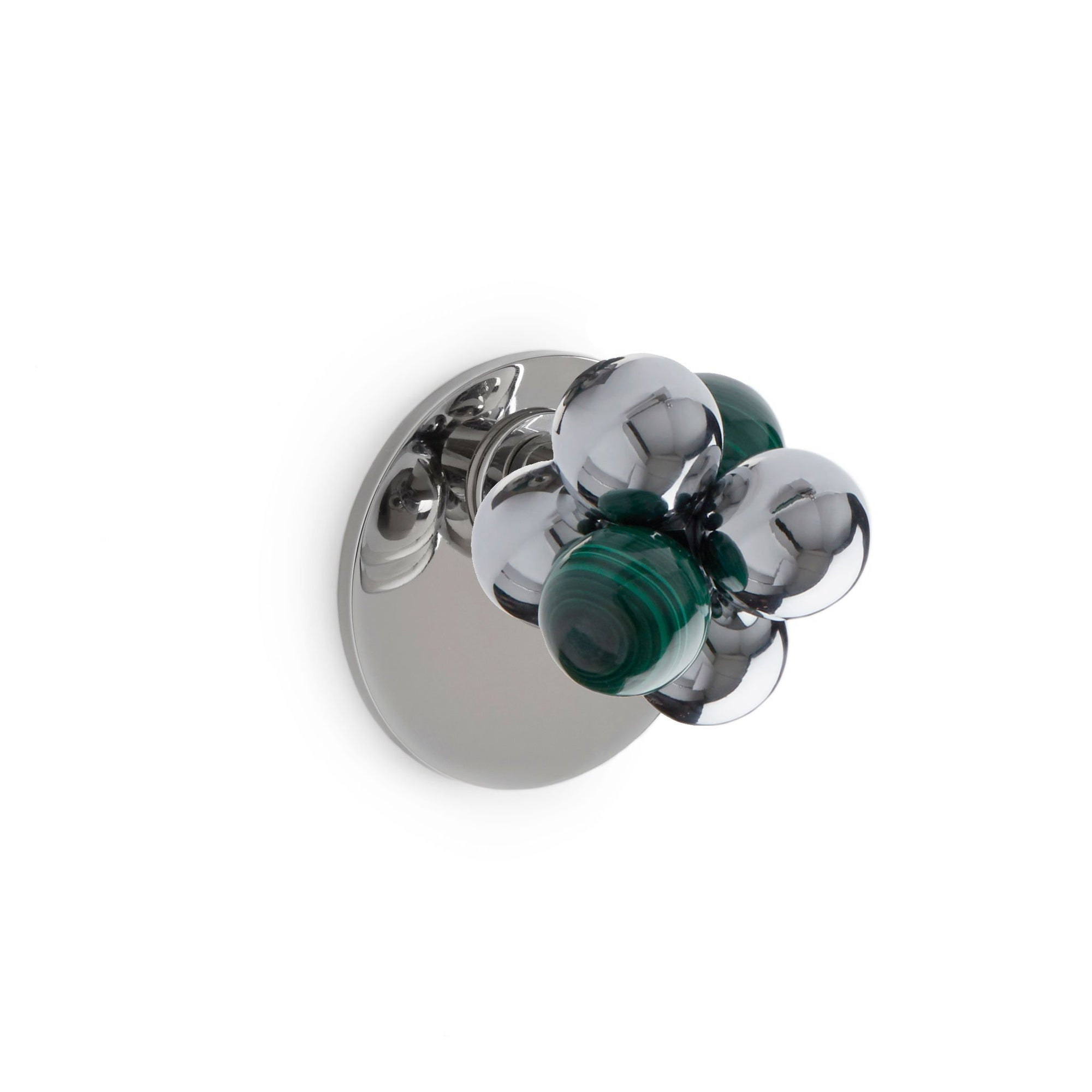 2105DOR-MALA-CP Sherle Wagner International The Stone Insert Molecule Door Knob in Polished Chrome metal finish