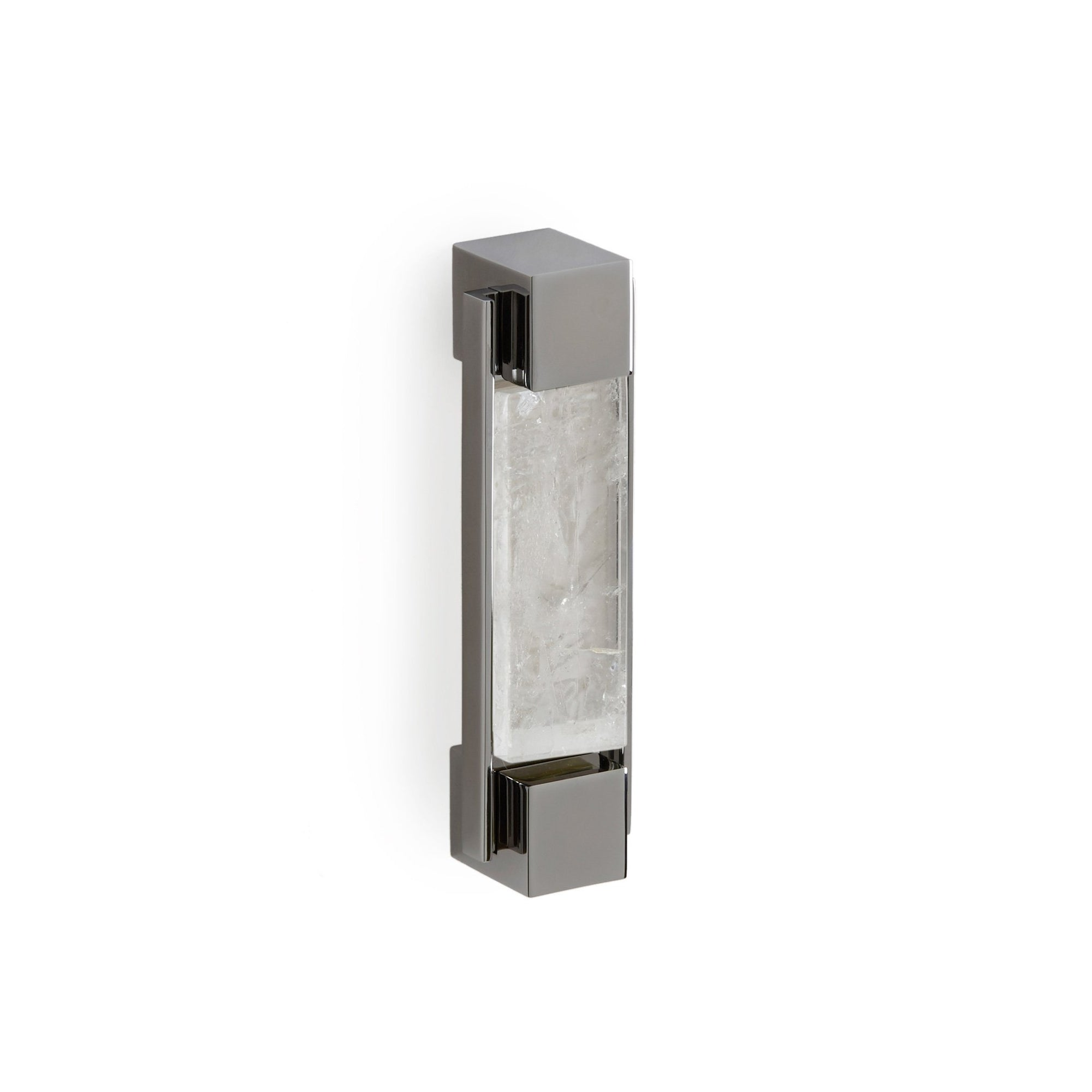 2120-BRPL-RKCR-CP Sherle Wagner International The Rock Crystal Insert Apollo Bar Pull in Polished Chrome metal finish