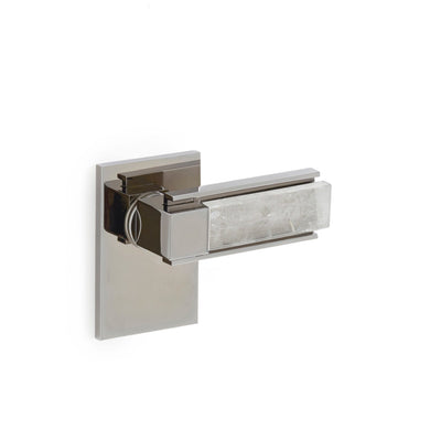 2120DOR-RH-RKCR-CP Sherle Wagner International The Stone Insert Apollo Door Lever in Polished Chrome metal finish