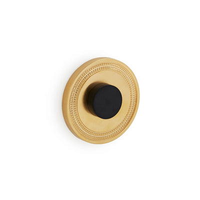 2917-1033BP-GP Sherle Wagner International Wall Mount Door Stop with Concentric Circles Back Plate in Gold Plate metal finish
