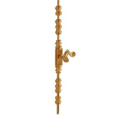 2921-0045DOR-RH-GP Sherle Wagner International Cremone Bolt with Dolphin Door Lever in Gold Plate metal finish