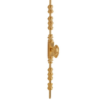 2921-0054DOR-GP Sherle Wagner International Cremone Bolt with Oval Beaded Door Knob in Gold Plate metal finish