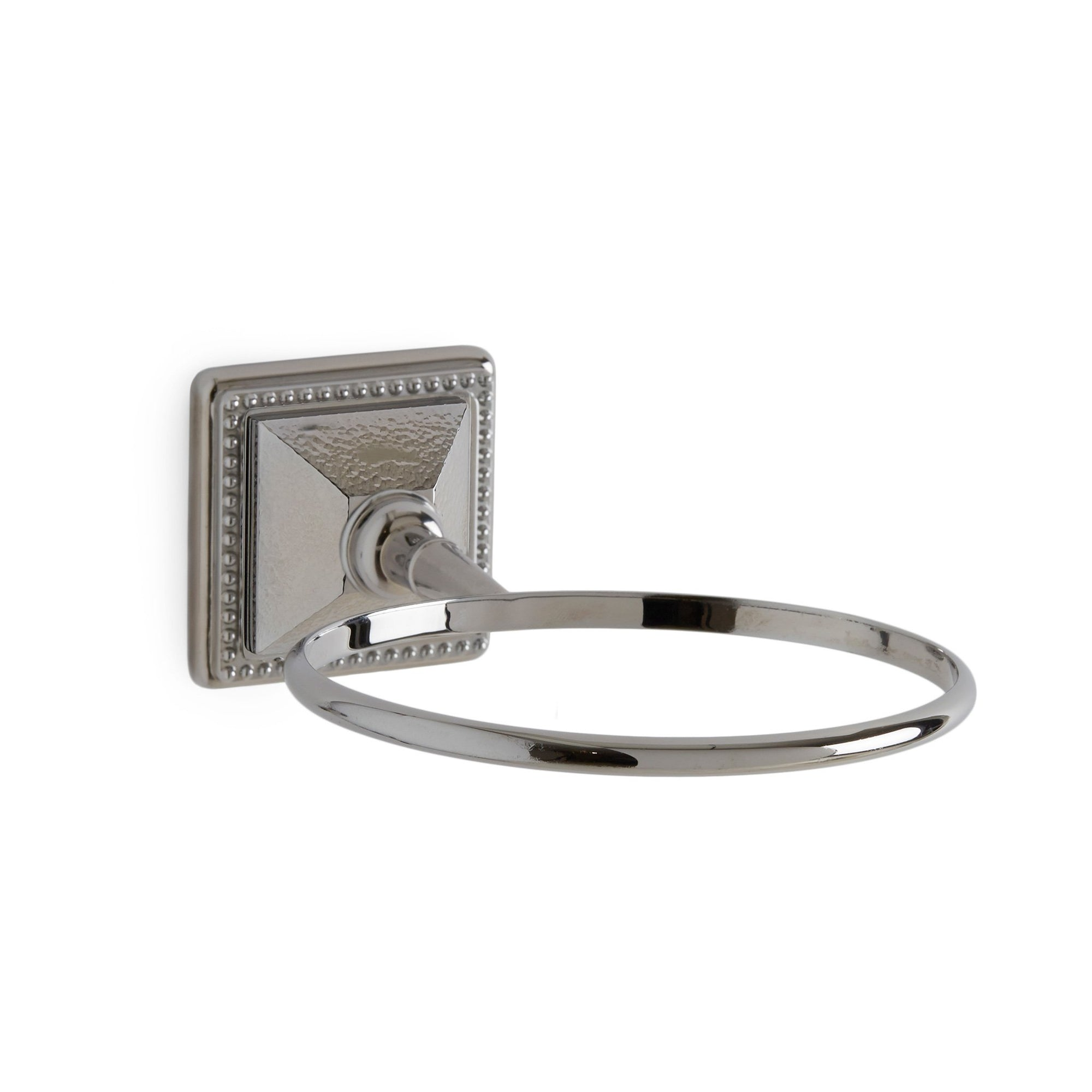3221-HMRD-CP Sherle Wagner International Hammered Pyramid Soap Dish Holder in Polished Chrome metal finish