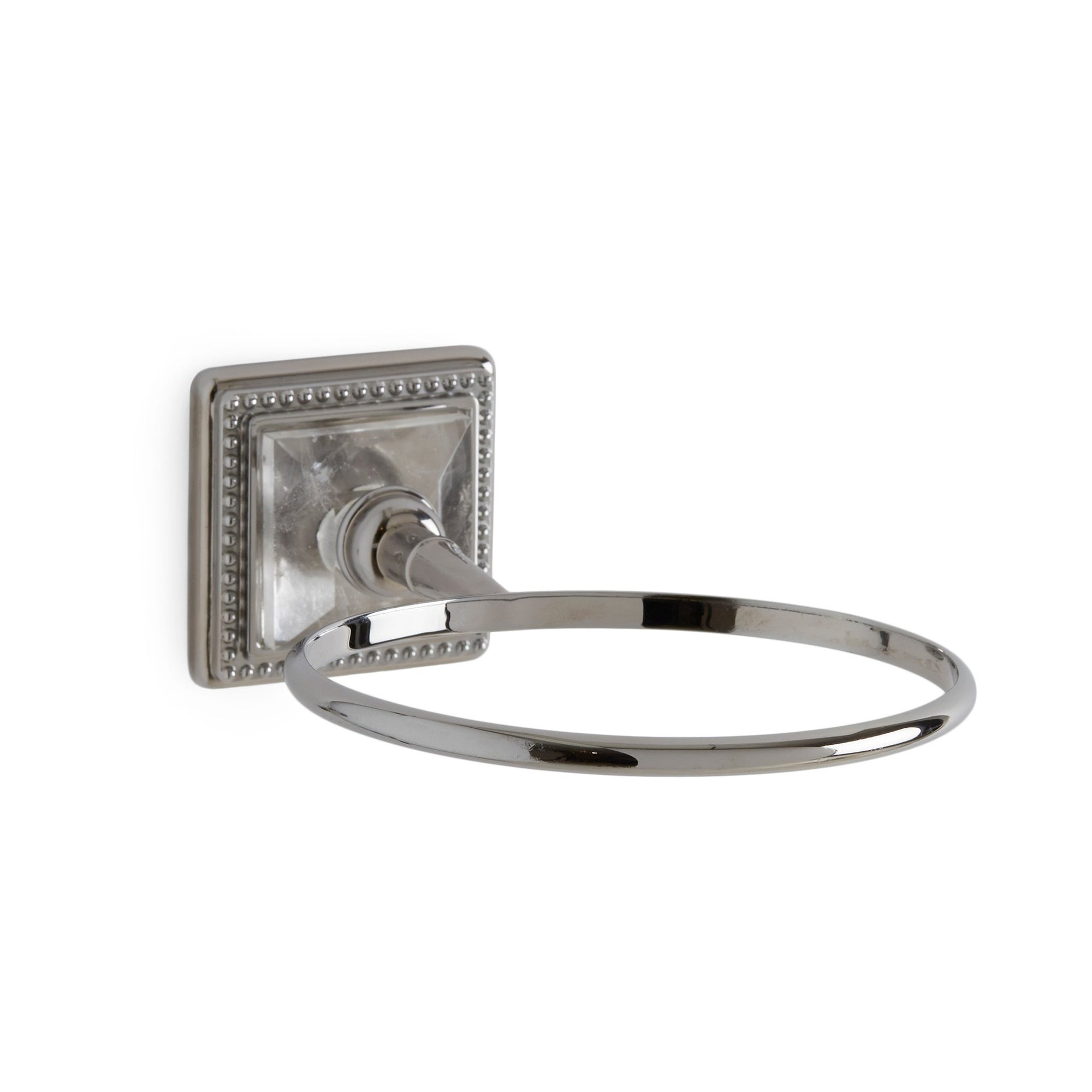 3221-P-RKCR-CP Sherle Wagner International The Semiprecious Pyramid Soap Dish Holder in Polished Chrome metal finish
