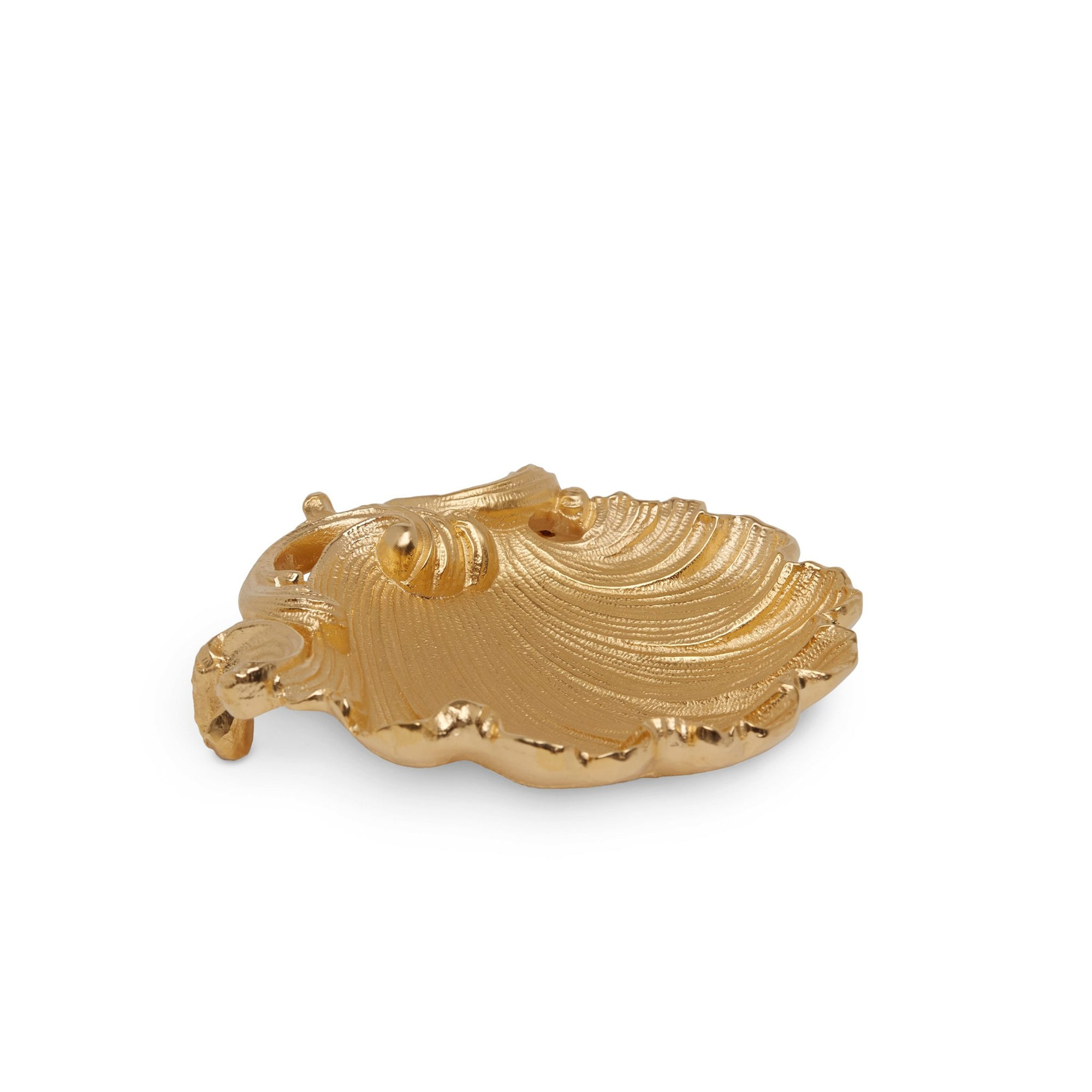 3330-GP Sherle Wagner International Rococo Shell Soap Dish in Gold Plate