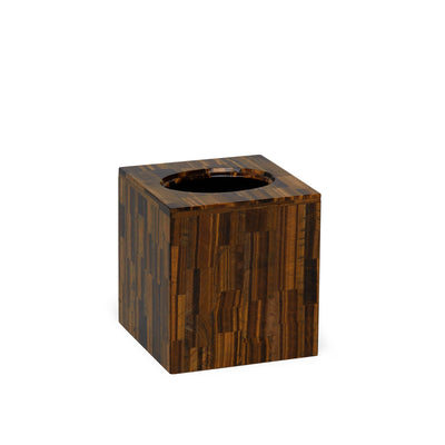 3350B-BRTI Sherle Wagner International Boutique Tissue Box Cover in Brown Tiger Eye