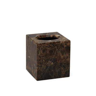 3350B-IMBR Sherle Wagner International Boutique Tissue Box Cover in Imperador Brown