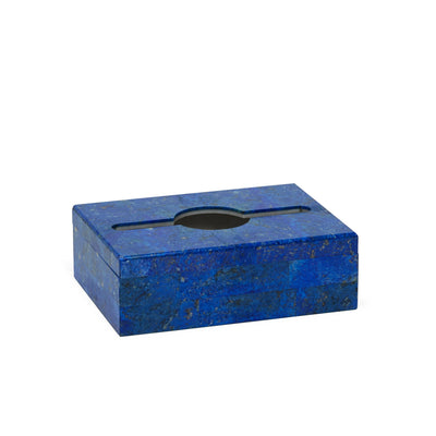 3354-LAPI Sherle Wagner International Small Oblong Tissue Box Cover in Lapis Lazuli