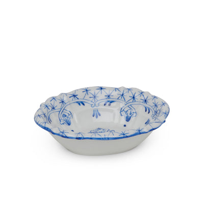 3362-66DL-WH Sherle Wagner International Ceramic Soap Dish with Delft on White
