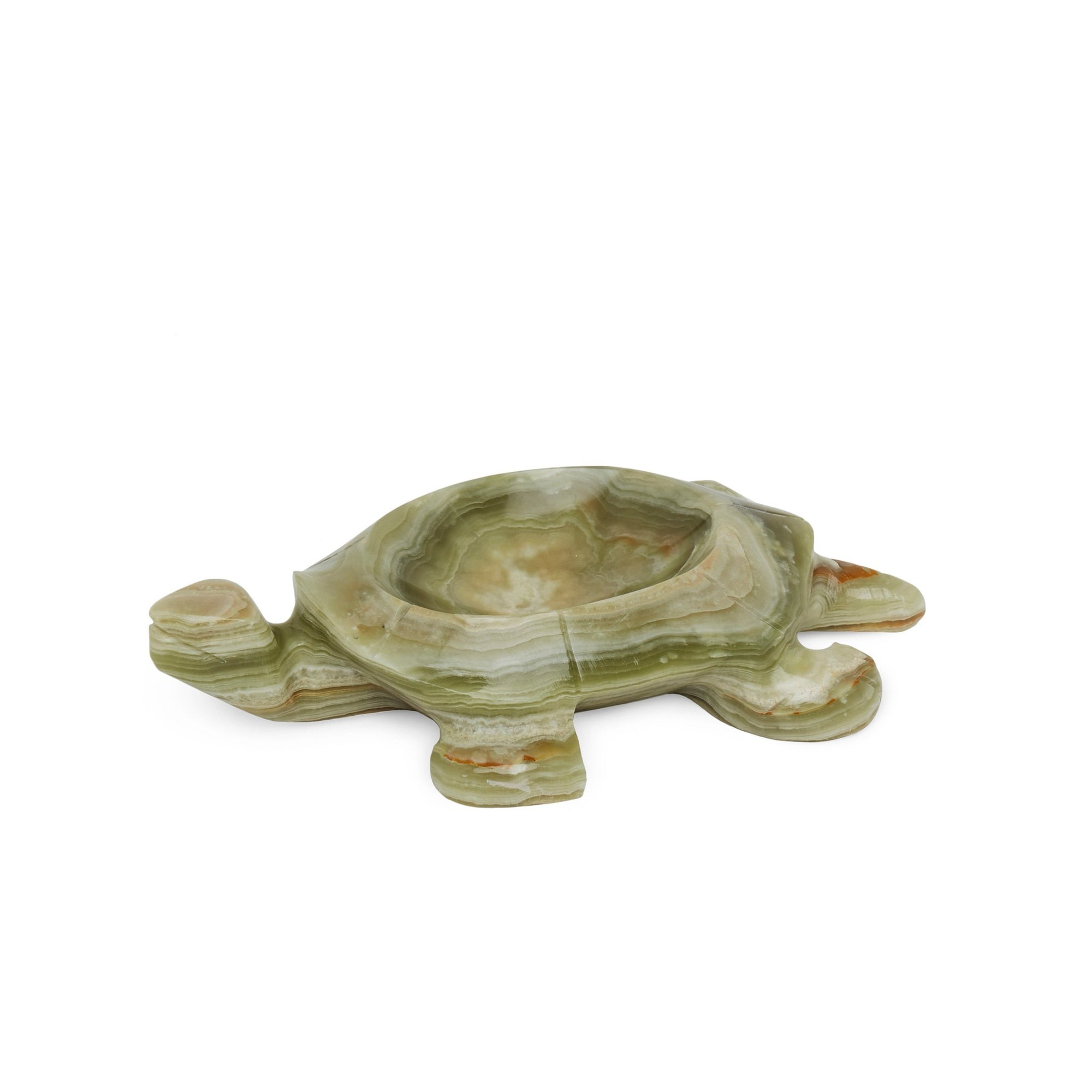 3366-GROX Sherle Wagner International Stone Turtle Soap Dish in Green Onyx