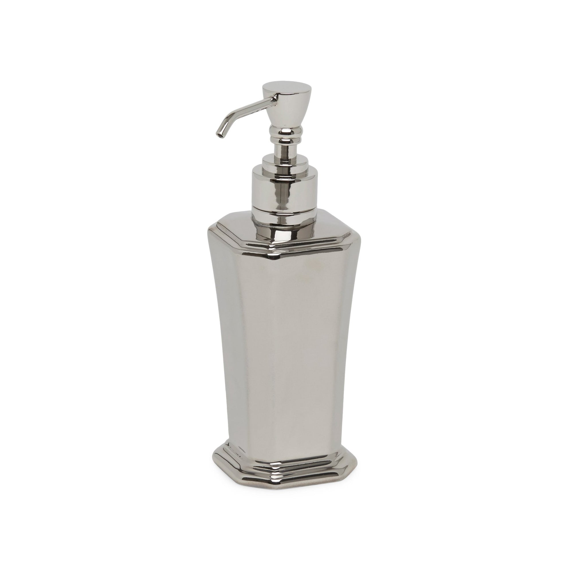 3371-17HP-HP Sherle Wagner International Harrison Ceramic Soap Pump Dispenser in Highly Polished Platinum