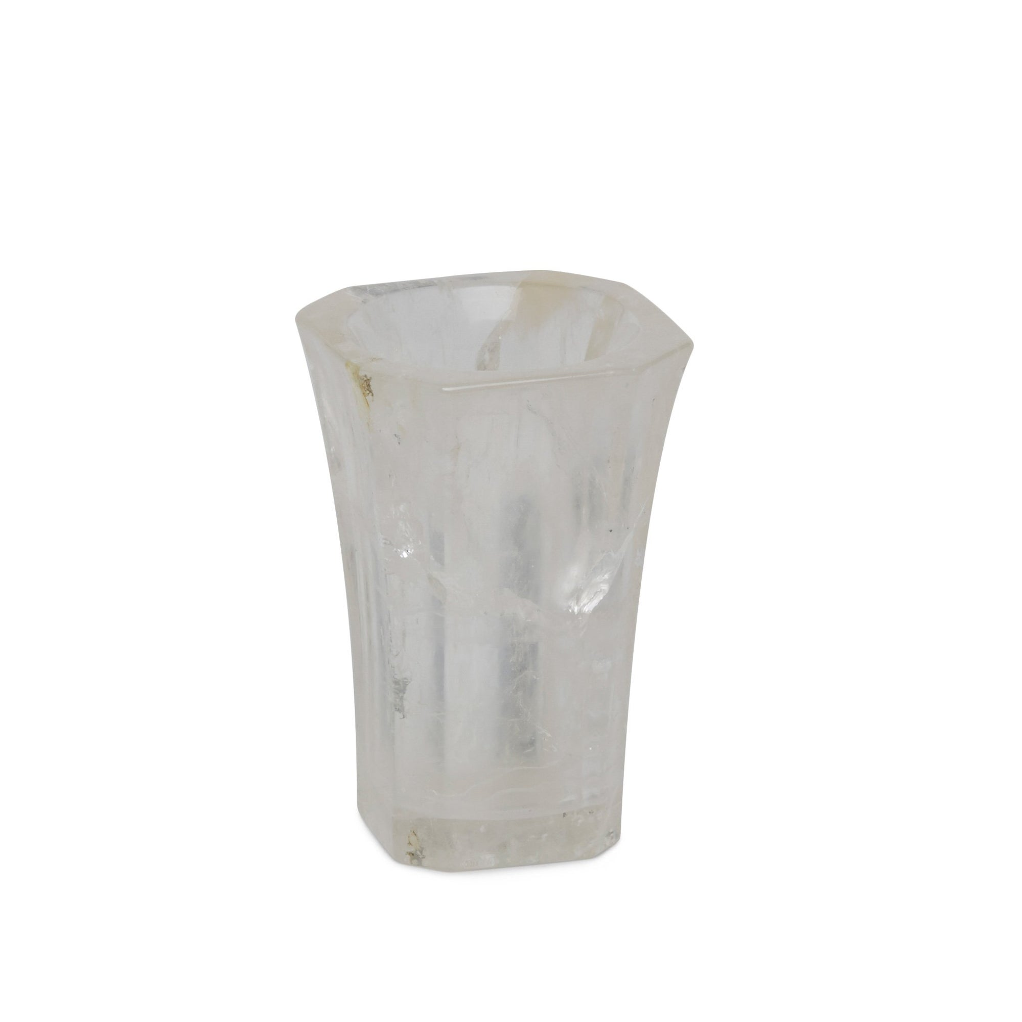 3378-RKCR Sherle Wagner International Stone Harrison Tumbler in Rock Crystal
