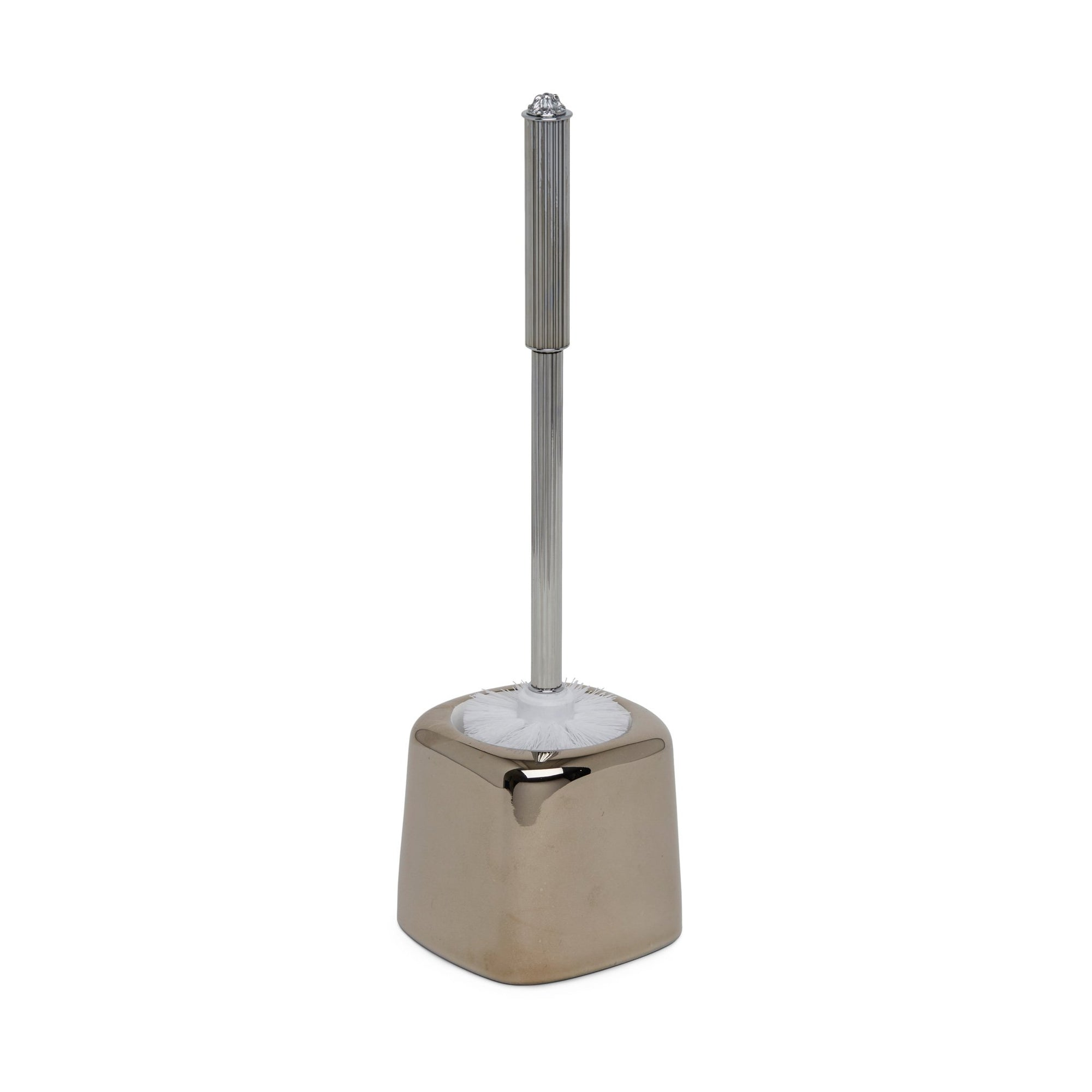 3395-17HP Sherle Wagner International Toilet Ceramic Brush Holder with Highly Polished Platinum finish